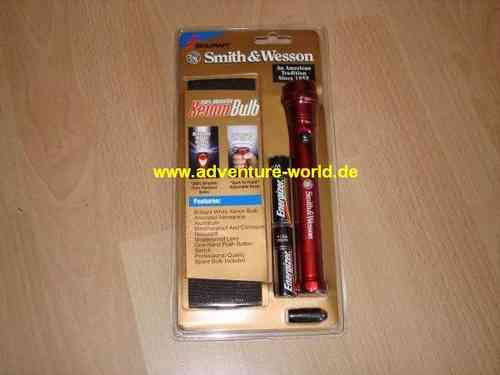 Smith & Wesson® XENON-Taschenlampe, 2AA, rot