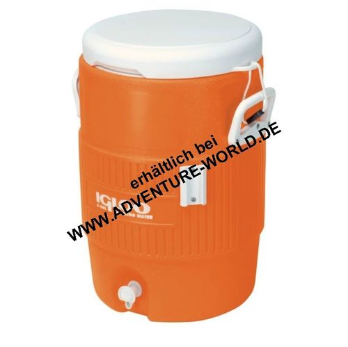 IGLOO 5 Gallon Seat Top 19 Liter Kühlbox Getränke-Kühler Orange/Weiß - Dispenser